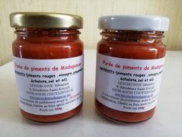 2 Pots de purée de Piments Rouges de Madagascar (2x100g)