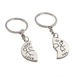 JeweleryART-  Partner - Schlüsselanhänger Halb und Halb
