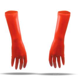 LatexDreamwear – kurze Handschuhe 3D getaucht mit  verlängertem Schaft