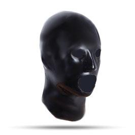LatexDreamwear – anatomisch geformte Maske mit Öffnungen