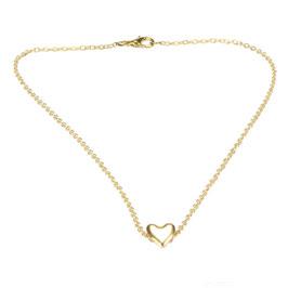 JeweleryART - süße goldfarbene Halskette mit Herz