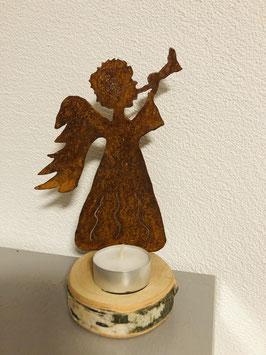 Engel auf Birkenscheibe (Variante 5)