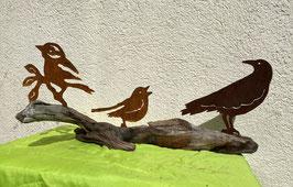 Vögel auf Schwemmholz 4  (EINZELSTÜCK)