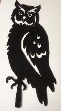 Eule (schwarz lackiert)