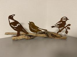 Vögel auf Schwemmholz 3  (EINZELSTÜCK)