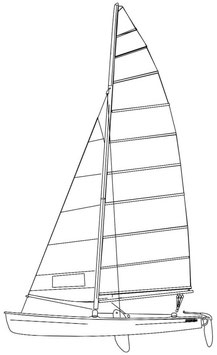 Hobie 18SX Classic Color Mainsail