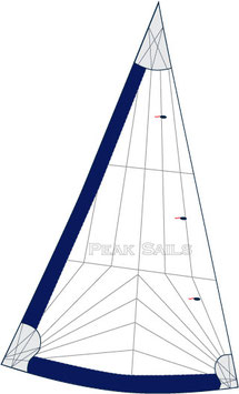 Cape Dory Typhoon Daysailer Tri-Radial Performance 135% Furling Genoa