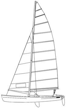 Hobie 18 Classic Color Mainsail