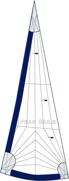 Capri 22 Tall Rig Tri-Radial Performance 100% Furling Jib