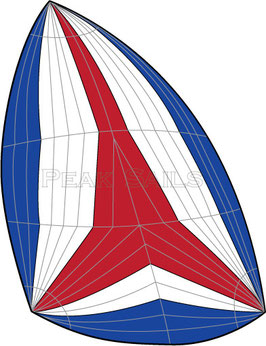 Cal 25 MKII Full Radial Asymmetrical Cruising Spinnaker