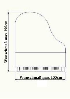 Pianocarpet, Flügel bis 190 cm Länge