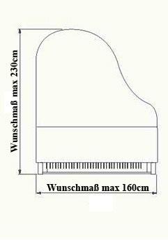 Pianocarpet auf Maß, Flügel bis 230 cm Länge