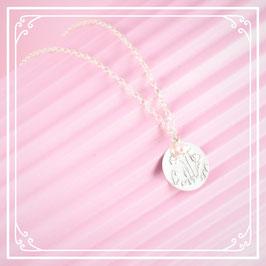 925er Silberkette mit Mohnblumenanhänger