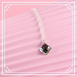 925er Silberkette mit Anhänger - silver night