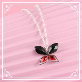 925er Silberkette mit Schmetterlinganhänger