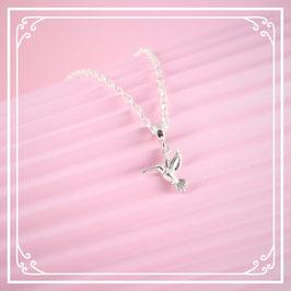 925er Silberkette mit Kolibrianhänger