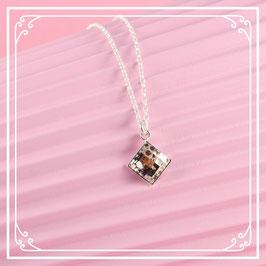 925er Silberkette mit Anhänger - rose patina