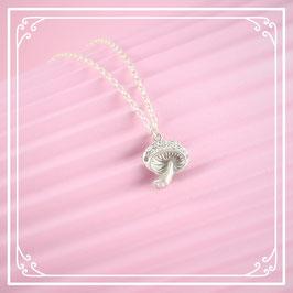 925er Silberkette mit Pilzanhänger