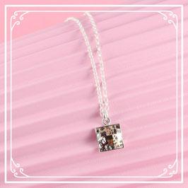 925er Silberkette mit Anhänger ver2 - rose patina