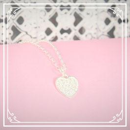 925er Silberkette mit Herzanhänger
