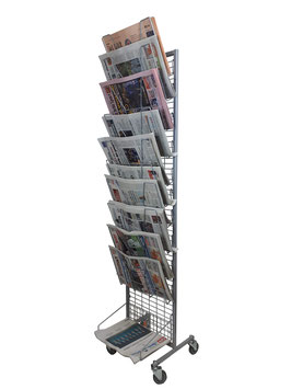Carrello espositivo per Quotidiani