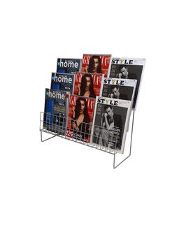 Scaletta espositiva per riviste a 3 file S3