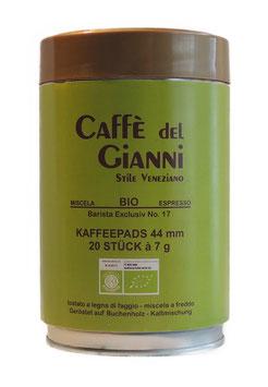 Caffè del Gianni BIO E.S.E.-Kaffeepads 44 mm