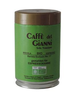 Caffè del Gianni BIO Barista Exclusiv No17 gemahlen