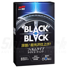 SOFT99 Black Black Tyre Reifenversiegelung - 110 ml + 2 Applikatoren