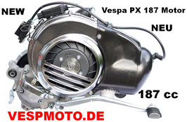 Engine 187 cc Vespa PX 80 to 200 - reed valve