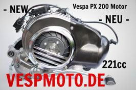 ES Motor 221 cc Vespa PX 200 - Carcasa del motor Malossi VR One