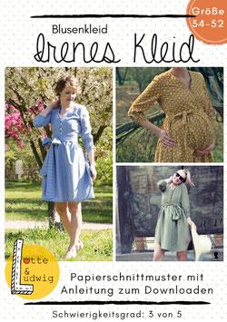 Papierschnittmuster Irenes Kleid Gr. 34 bis 52