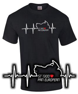 T-Shirt HERZSCHLAG ST 1300 Tuning Pan European Teile Zubehör st1300 paneuropean, für Honda Biker
