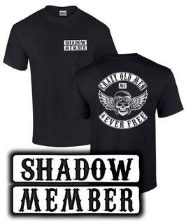 T-Shirt CRAZY OLD MEN MC SHADOW Tuning VT 750 1100 125 spirit Teile Zubehör vt750 vt1100, für Honda Biker