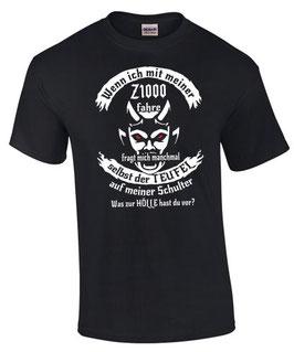 T-Shirt Z1000 Tuning Teile Zubehör Funshirt Spruch TEUFEL z 1000 , für Kawasaki Biker