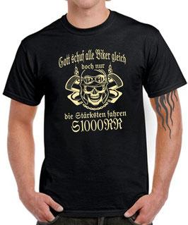 T-Shirt GOTT SCHUF ALLE BIKER GLEICH DOCH NUR DIE BESTEN FAHREN S1000RR Tuning Teile Zubehör s 1000 rr , für BMW Biker