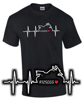 T-Shirt HERZSCHLAG PULS R1250GS Tuning Teile Zubehör Biker Motiv Motorrad Liebe r 1250 gs , für BMW Biker