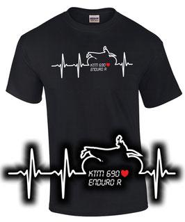 KTM 690 ENDURO R HERZSCHLAG Tuning Teile Zubehör Motorrad , T-Shirt für KTM Biker