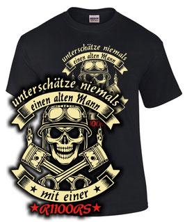 T-Shirt UNTERSCHÄTZE NIEMALS EINEN ALTEN MANN MIT EINER R1100RS Tuning Teile Zubehör r 1100 rs , für BMW Biker
