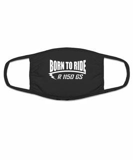 R 1150 GS Tuning Zubehör Motorrad Biker Mund Nasen Maske Mundschutz Motiv BORN TO RIDE Halstuch Bandana für R1150GS BMW