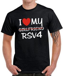 T-Shirt I LOVE MY GIRLFRIEND RSV4 mille tuono r rr rf factory rsv 4 Tuning Zubehör Motorrad , für Aprilia Biker