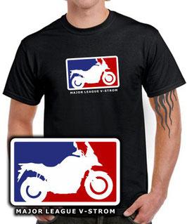 V-STROM 250 650 1000 Tuning  Zubehör T-Shirt MAJOR LEAGUE vstrom v strom , für Suzuki Biker