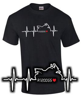 T-Shirt HERZSCHLAG PULS R1200GS Tuning Teile Zubehör Biker Motiv Motorrad Liebe r 1200 gs , für BMW Biker
