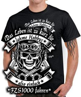FZS1000 T-Shirt LEBEN HOBBY fzs 1000 Motorrad Tuning Teile Zubehör , für Yamaha Biker