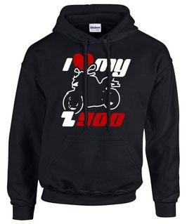 Hoodie I LOVE MY Z900 Tuning Motorrad Zubehör Teile Sweatshirt z 900 , für Kawasaki Biker
