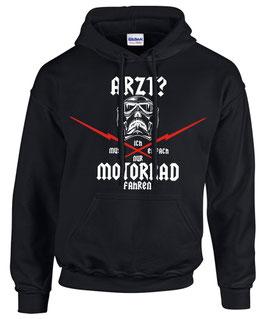 Hoodie ARZT? ICH MUSS EINFACH NUR MOTORRAD FAHREN Spruch Sweatshirt