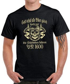 T-Shirt GOTT SCHUF ALLE BIKER GLEICH DOCH NUR DIE BESTEN FAHREN VN 1600 Tuning Teile Zubehör Motorrad vn1600 , für Kawasaki Biker