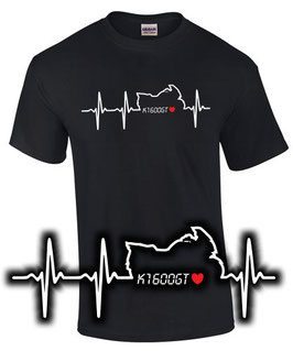 T-Shirt K1600GT HERZSCHLAG Tuning Teile Zubehör k 1600 gt Motorrad, für BMW Biker