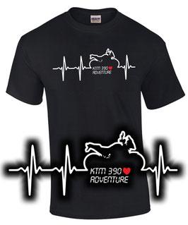 KTM 390 ADVENTURE HERZSCHLAG Tuning Teile Zubehör Motorrad T-Shirt