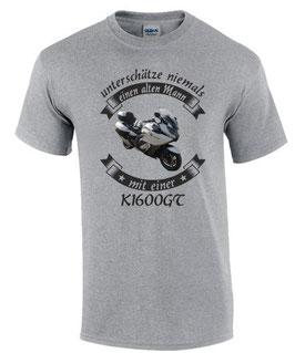 1 x T-Shirt HELLGRAU Gr. XL Sonderanfertigung auf Kundenwunsch VORNE UND HINTEN gleich bedruckt